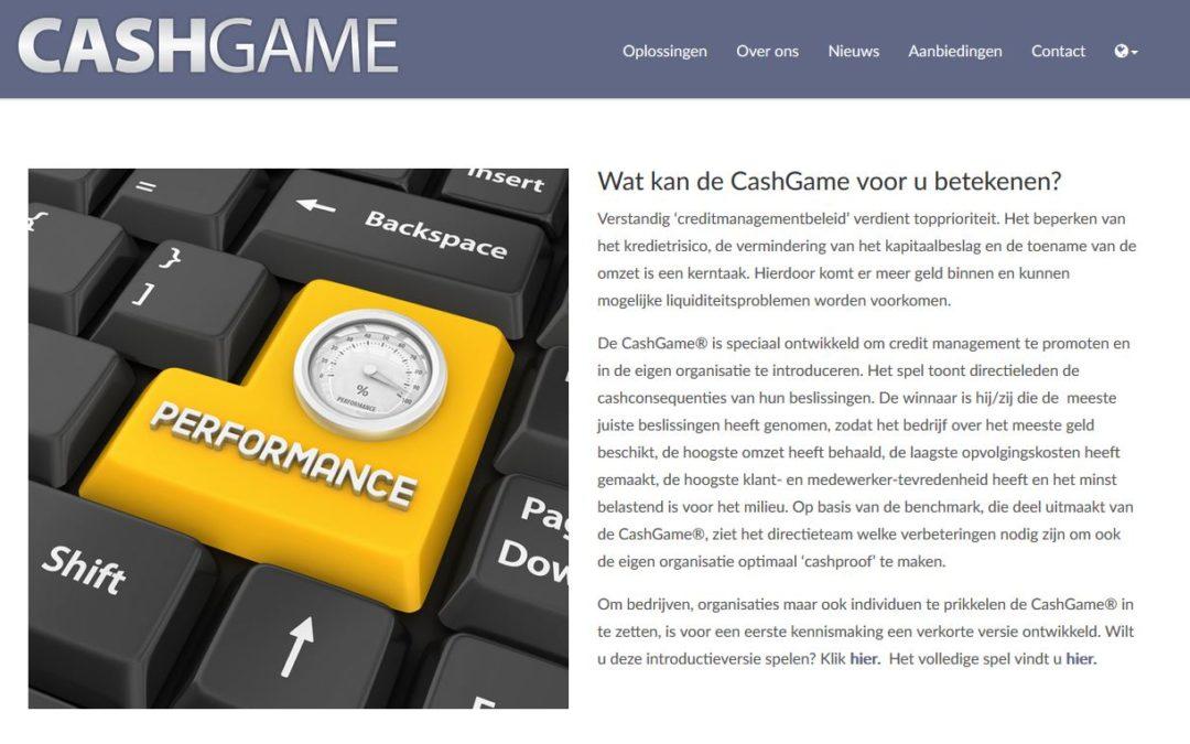 De CashGame® heeft een eigen website